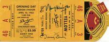 Maury Wills Tommy Davis Signed Autographed Promo Ticket Dodgers JSA KK55093