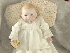 "Vintage Big Baby Doll Hand Made OOAK 17"" Porcelain Head, Arms Dolls by Bonnie"