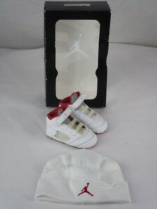 Baby Jordan Shoes 5 Retro (GP) Red, white and black.  Size 3-6 months with baby