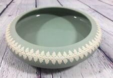 "Vintage Jasperware Dudson Hanley Green Bowl England - 8"" Wide x 2"" Tall"