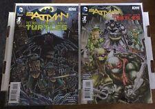 Batman Teenage Mutant Ninja Turtles #1 First Print And 1:50 Variant