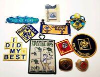 Lot of Boy Scout Patches Tie clip Cub Scout