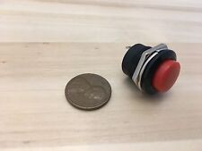 1 Pieces RED small N/O Momentary 16mm push button Switch round 12v on off C18