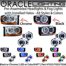 ORACLE Halo Headlights & Fog Lights for 2006 Dodge RAM Pickup Truck *All Colors