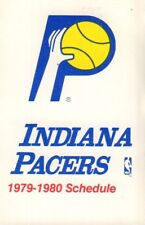 1979-80 Indiana Pacers Basketball Schedule 101817jh