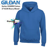 Gildan Royal Hoodie Heavy Blend Basic Hooded Sweater Boy Girl Youth Kids