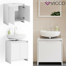 Waschbeckenunterschrank EMMA Weiß Unterschrank Badschrank Badezimmer VICCO