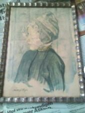 Antique Dutch Art Watercolor Lithograph Print Early 1900's Matthijs Hage...