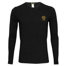 Versace Cotton Blend Long Sleeve T-Shirts for Men