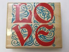 INKADINKADO LOVE 4740 Rubber Stamp Letters Wood Mount Scrapbook Card Making