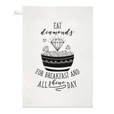 Manger Des Diamants Pour Petit Déjeuner Torchon Chiffon De Vaisselle