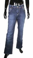 GJ4-127 Replay Damen Basic Jeans straight leg blau W34 L31 mid rise Stretch