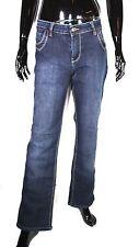 GJ4-127 Replay Damen Basic Jeans straight leg blau W34 L31 mid rise Stretch