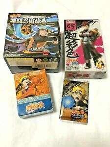 Naruto Figures Blind Box Mix Lot & A New Chronicle Collectible Game Card.