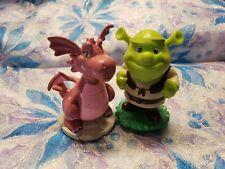 Very Rare ~ Shrek Figure & The Pink Dragon ~ 2006 ~ Set of 2 Figures