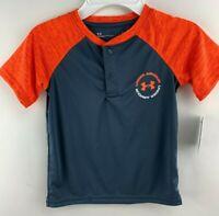 Under Armour Youth Boy's Heat Gear Short Sleeve Shirt Size 5 - US STOCK