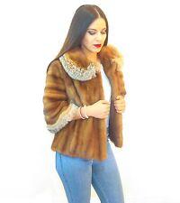 Fur Coat for Women Jacket Vest Real Mink Demi Buff Lynx Garniture for Sale