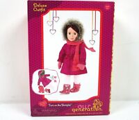 Deluxe Doll Outfit Coat Mittens Scarf Boots Tights For 18 inc Dolls New