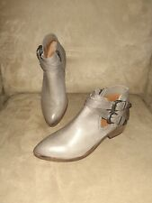 FRYE-Ray Deco Western Shootie/Bootie Ankle Boot-Grey Leather-6M-NWOB