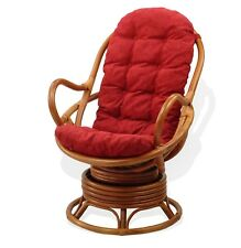 Cushion for Swivel Rocking Chair, Burgungy Color (Just Cushion)