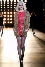 saint laurent Polka Dot Leather dress Fr34 Xs, Runway Look