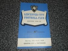 LEICESTER CITY  v  PORTSMOUTH  1958/9  ~ MARCH 28th     *****FREE POST*****