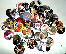 WHOLESALE JOB LOT x 50 MUSIC ROCK/ POP/ SLOGANS/80'S/90'S/ CURRENT/EMO BADGES