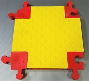 4CEL1 Hinged 5-Channel Heavy Duty Cable Protector 4-Way Cross, Red, Yellow, 18""