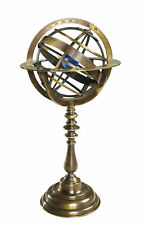 "Antiqued Armillary Dial Bronze Sphere Globe 14"" Nautical Desk Top Decor"