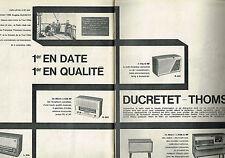 PUBLICITE ADVERTISING  1960   DUCRETET-THOMSON radios meubles (2 pages)