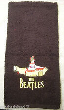 Beatles Yellow Submarine Set Of 2 Bath Hand Towels Embroider Rare Find By Laura