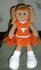 "University of Texas Longhorn Rag Cheerleader Doll Go Longhorns!! 17"" Big Doll"