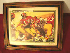 ROY ANDERSEN SIGNED ART OF WASHINGTON REDSKINS QUARTERBACK BILLY KILMER