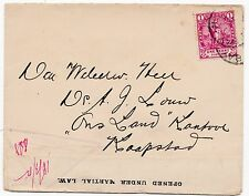 * c.1902 BOER WAR CENSOR TO KAAPSTAD OPENED UNDER MARTIAL LAW  MILITARY S AFRICA