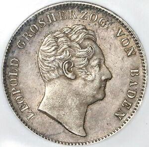 1852 NGC XF 40 Baden Double Thaler Rare German State Silver Coin 60k (20022901C)