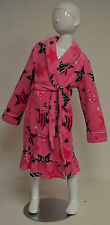 Komar Kids Girl's Pink + Zebra Stars Dressing Gown Robe BNWT -  XS 5-6 Years