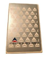 VINTAGE playing cards Deck  Delta Airlines Collectible Poker Bridge Silver