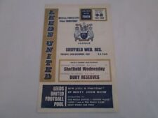 Home Team Leeds United Football FA Cup Fixture Programmes