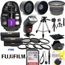 Fujifilm X-T20 32GB PRO HD KIT LENSES-FLASH-TRIPOD-BACKPACK-MACRO KIT TELEPHOTO