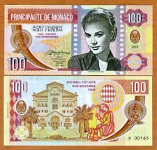 Monaco, 100 Francs, 2019 Private Issue Clear Window Polymer > Grace Kelly
