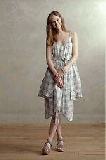 """NWT Anthropologie """"Belmar Dress"""" by Holding Horses, Blue Plaid, Size XS S, $118"""