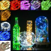 50 100 LED Wire String Lights Fairy Christmas Party Decor Holiday Wedding Supply