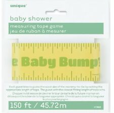 * BABY SHOWER MEASURING TAPE GAME 150ft  GUESS THE BUMP SIZE GENDER REVEAL PARTY