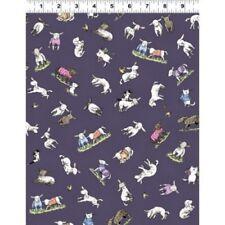Clothworks Fair Isle Friends by Anita Jeram Y2576 28 Dk Purple Toss Cotton