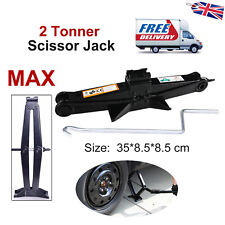 High Lift Portable Car Scissor Jack Heavy Duty Tough Steel Lightweight 2 Tons UK