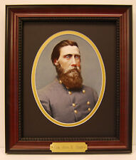 General John B. Hood Civil War Generals framed photo with plaque hand colored