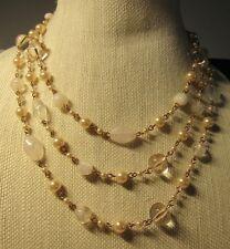 Premier Designs PRIMROSE rose gold pearl necklace RV $55