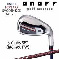 ONOFF GOLF JAPAN AKA IRON SET #6-9,P (5clubs) SMOOTH KICK  Graphite shaft