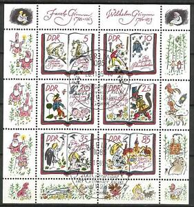 Germany (East) DDR GDR 1985 CTO Fairy Tales Grimm Brothers Minisheet