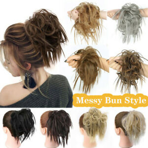 Women Hair Bun Messy Scrunchie Chignon Hair Extensions Synthetic Hairpiece